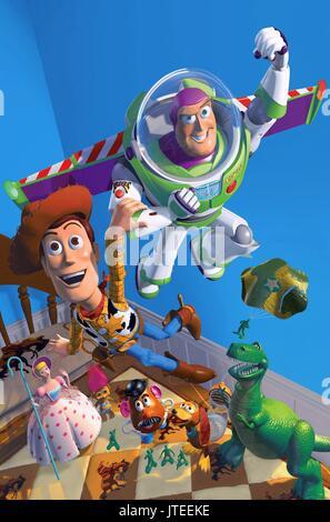 BO PEEP, M. POTATO HEAD, Woody, Buzz Lightyear, SLINKY DOG, REX, Toy Story, 1995