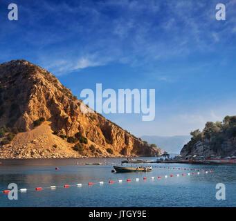 Sea scape de Rocky Harbour à Marmaris, Turquie, Mer Medeterranian Banque D'Images