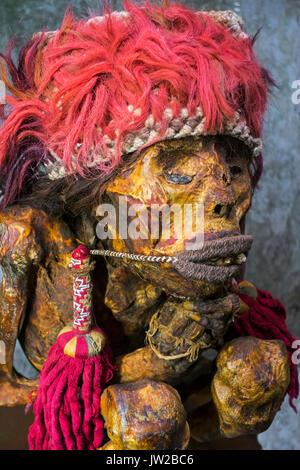 La décoration momie de Pérou / Bolivie à partir de la période Nazca (100 avant JC à 400 après JC) Banque D'Images