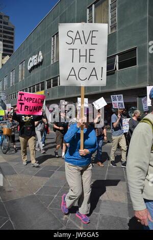Protestation Anti Trump à Denver au Colorado Banque D'Images