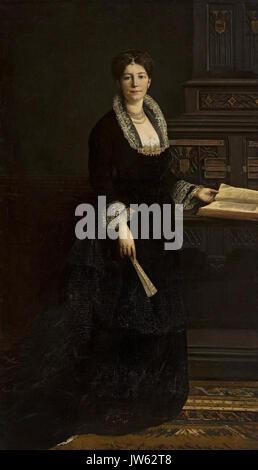 Ajdukiewicz Portrait de femme en costume médiéval Banque D'Images
