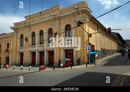 Teatro Municipal, Plaza Wenceslao Monrroy, La Paz, Bolivie, Amérique du Sud Banque D'Images