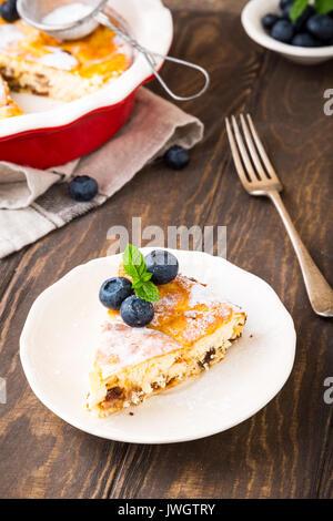 Délicieux gâteau au fromage fait maison Banque D'Images