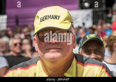Londres, Royaume-Uni. 12Th Aug 2017. Wolfgang Kuehne, entraîneur allemand, suit l es Championnats du monde à Londres, Banque D'Images