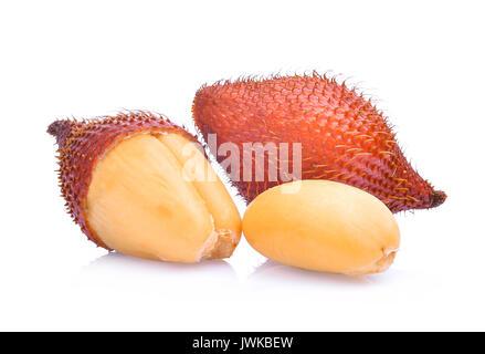Salak salacca zalacca,fruit isolé sur fond blanc Banque D'Images