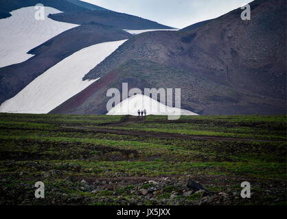 Territoire du Kamtchatka, en Russie. 12Th Aug 2017. Le pied de l'Avachinsky stratovolcan actif. Crédit: Yuri/Smityuk Banque D'Images