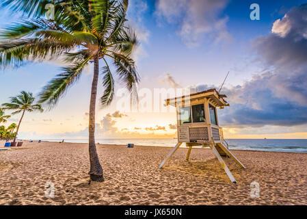 La plage de Fort Lauderdale, Floride, USA. Banque D'Images