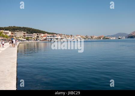 La promenade à Argostoli, Kefalonia, Grèce Banque D'Images