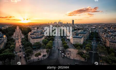 La Défense, quartier des affaires à Paris Banque D'Images