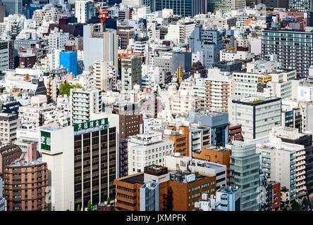 Vue aérienne des bâtiments de Tokyo Japon Banque D'Images