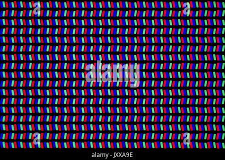 Microphotographie de smartphone (produit en 2015) affichage LCD IPS, le grossissement est 68x lors de l'impression de 10 cm de largeur