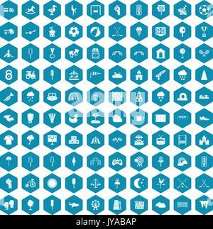 Aire de jeux 100 icônes sapphirine violet Banque D'Images