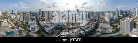 Panorama 360° de la ville de Bangkok, Sukhumvit Nana et photographie aérienne Banque D'Images