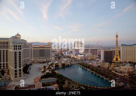 Strip de Las Vegas Banque D'Images