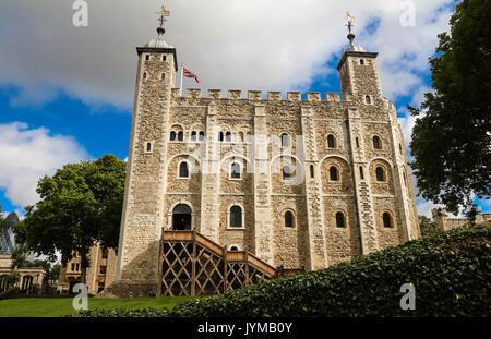 La Tour Blanche -château principal à l'intérieur de la Tour de Londres, Royaume-Uni. Banque D'Images