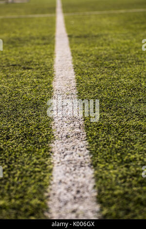 Motif de l'herbe verte pour le football le sport, terrain de football, terrain de football, sport d'équipe de texture. Banque D'Images