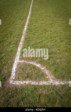 Terrain de football corner
