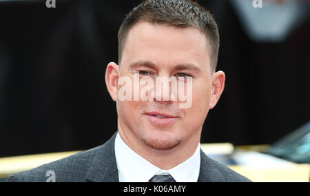 Londres, Royaume-Uni. Août 21, 2017. Channing Tatum, Logan Lucky - UK Film Premiere, Leicester Square, Londres, Banque D'Images