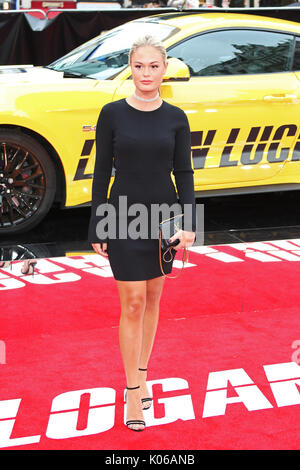 Londres, Royaume-Uni. Août 21, 2017. Ella Willis, Logan Lucky - UK Film Premiere, Leicester Square, Londres, Royaume Banque D'Images