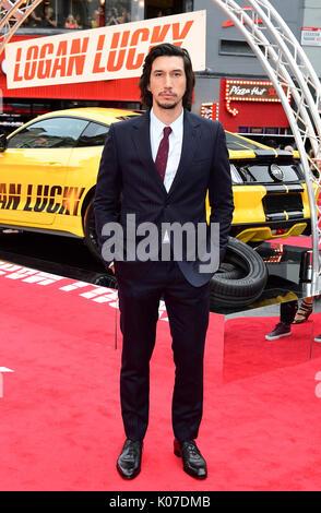 Adam Driver assistant à la Logan Lucky UK Premiere tenue à vue West End à Leicester Square, Londres. Banque D'Images