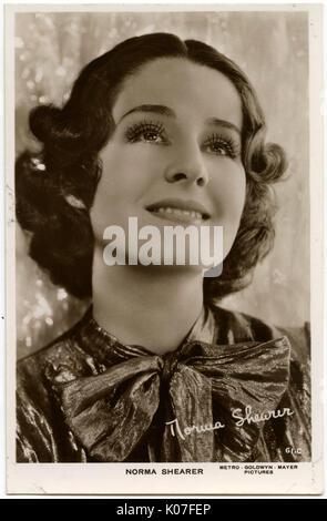 Norma Shearer (1902 1983), actrice américaine des années 20 et 30s Date: Banque D'Images
