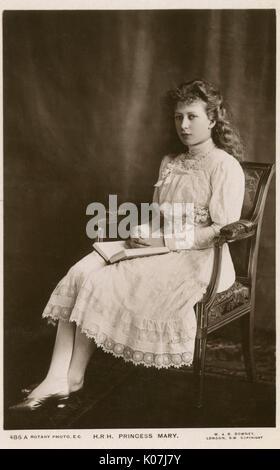 Mary, Princesse royale et comtesse de Harewood (Victoria Alexandra Alice Mary 18971965) -le troisième enfant et Banque D'Images