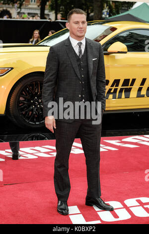 Channing Tatum à LOGAN LUCKY UK Premiere le lundi 21 août 2017 tenue à vue West End, Leicester Square, Londres. Banque D'Images