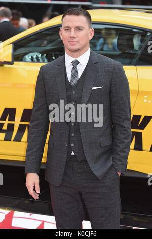 Channing Tatum,'Logan Lucky' - UK Premiere,Vue West End, Leicester Square, London.UK Banque D'Images