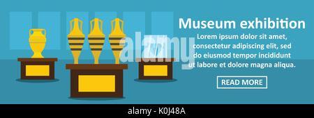 Bannière de l'exposition du Musée concept horizontal Banque D'Images