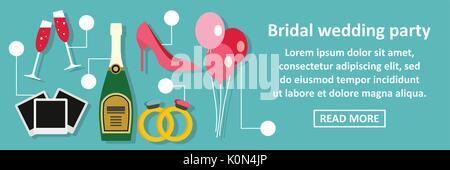 Suite Nuptiale mariage banner concept horizontal Banque D'Images