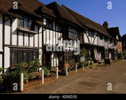 Vue sur la place du village à Chilham, Kent