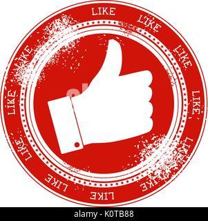 Symbole comme grunge stamp isolé sur fond blanc Banque D'Images