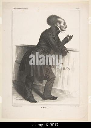Adolphe Jollivet, publiée dans La Caricature no. 164, 27 Décembre 1833 A RENCONTRÉ DP818595 Banque D'Images