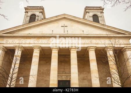 La Roche-sur-Yon, France - 19 décembre 2016: Détail de l'architecture de l'église Saint-Louis, à La Roche-sur-Yon, Banque D'Images