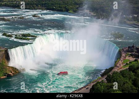 Niagara Falls, vue aérienne, le Canada Banque D'Images