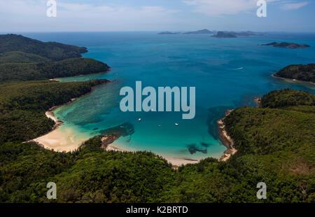 Vue aérienne de Hamilton Island, Queensland, Australie. Novembre 2012. Banque D'Images