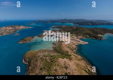Vue aérienne de Hamilton Island, Whitsundays, Queensland, Australie. Novembre 2012. Banque D'Images