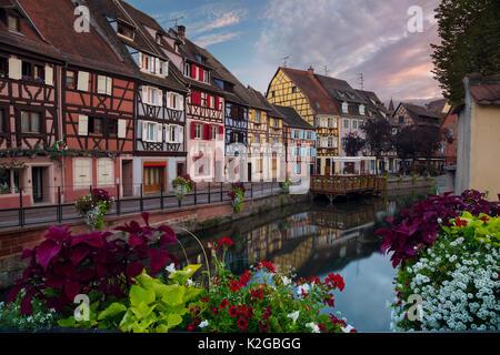 Ville de colmar. cityscape image de vieille ville de Colmar, france pendant le coucher du soleil. Banque D'Images