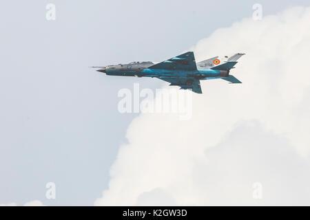 Radom, Pologne - 26 août 2017: polish uv 22 fighter affichage pendant Paris Air Show 2017.