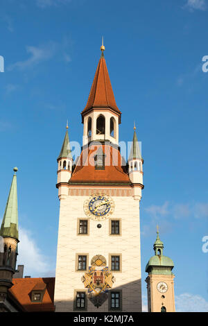 L'Ancien hôtel de ville (Altes Rathaus), Munich, Allemagne Banque D'Images