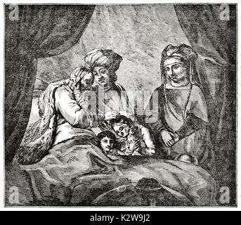 ancien testament la gen se joseph patriarche d 39 isra l joseph reconnu par ses fr res gravure. Black Bedroom Furniture Sets. Home Design Ideas