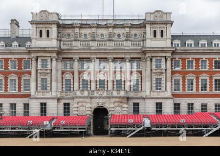 Plate-forme pour des spectateurs Horse Guards Parade à Londres, Royaume-Uni Banque D'Images