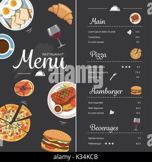 Restaurant menu design avec chalkboard