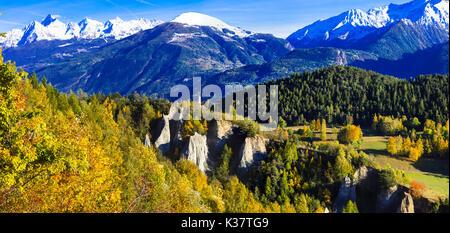Impressionnant paysage de montagne, au nord de l'Italie,vue panoramique. Banque D'Images