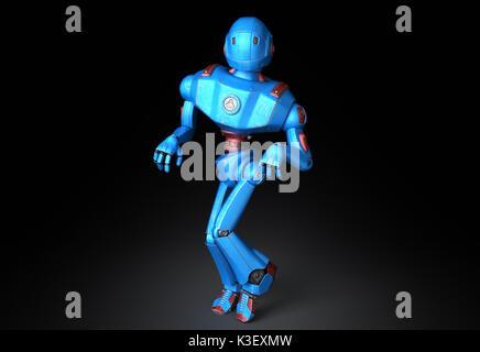 Ancien robot dans un funny pose Banque D'Images