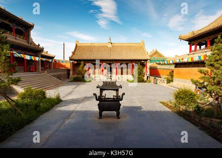 Xilinhot, Mongolie intérieure, Chine - 23 juillet, 2017: beizi temple est l'une des plus grandes lamaseries en Mongolie intérieure.