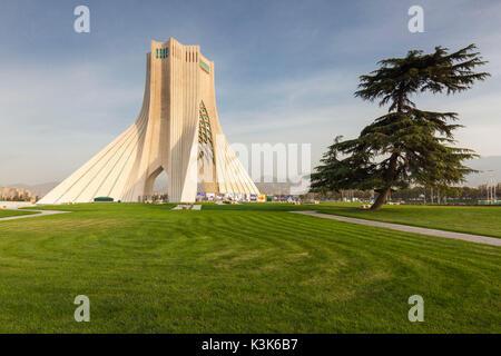 L'Iran, Téhéran, Tour Azadi, Freedon Tower Monument Banque D'Images