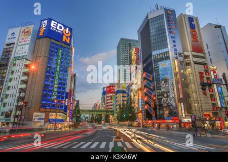 Le Japon, la ville de Tokyo, Akihabara Electric Town, l'avenue Chuo