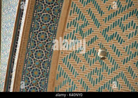 Détail architectural, la mosquée jameh. mosquée de vendredi, Yazd, Iran Banque D'Images