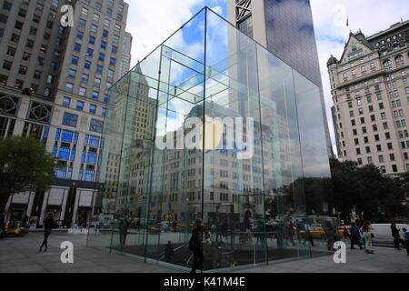 New York apple store de 5th Avenue Banque D'Images